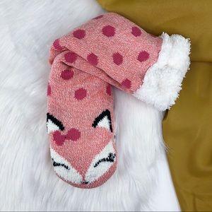 JACQUES MORET Cozy Warmers Slipper Socks Fox